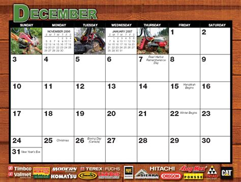 December 2006 Calendar Timber West Journal September October 2005