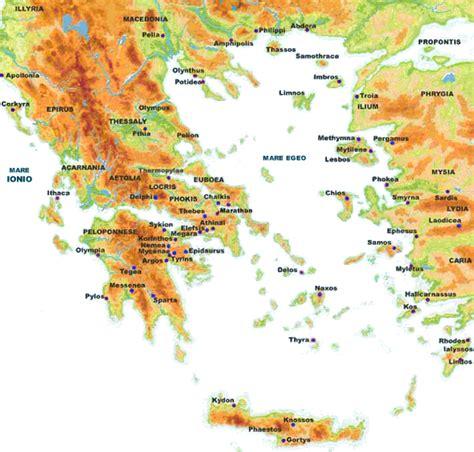 grecia antica grecia montagne mappa