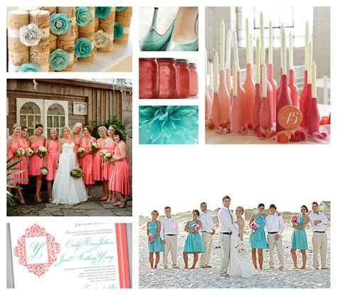 aqua salmon country wedding email this blogthis to to to