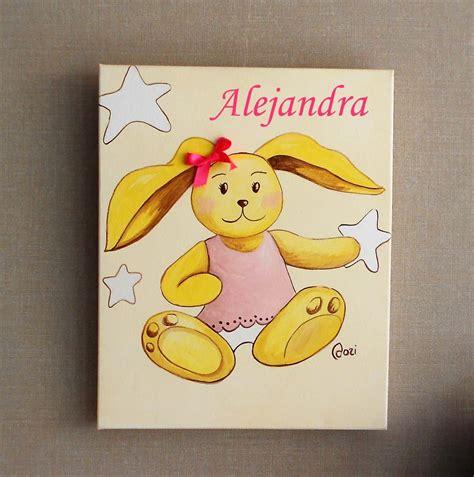 cuadros con nombre bebe cuadros infantiles personalizados con nombre crehadas