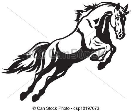 blanco y negro pintura lineal dibujar caballo ilustraci 243 n caballo que salta negro blanco ilustraci 243 n ilustraci 243 n