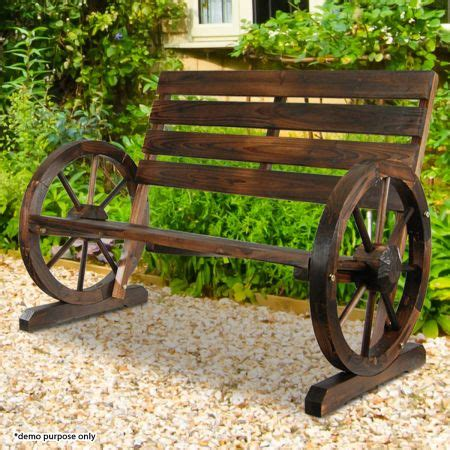 gardening bench with wheels wooden bench garden seat with wheel design armrests