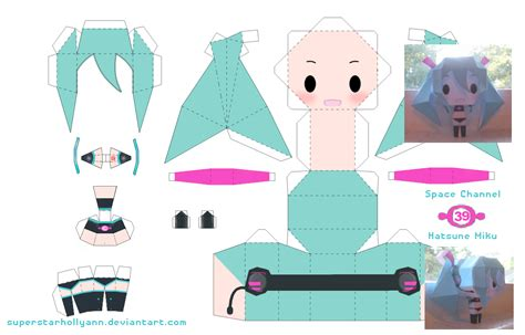 Papercraft Miku - miku space channel 39 by superstarhollyann on deviantart