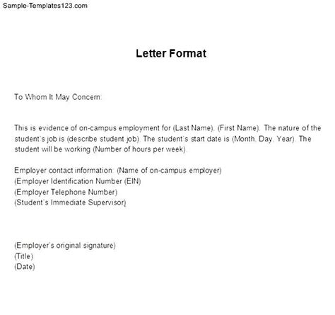 Verification Letter Exles Exle Of Employment Verification Letter Sle Templates