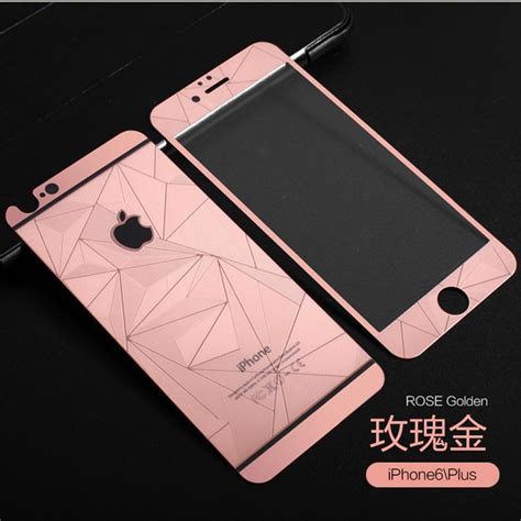 Tempered Glass 3d Gold Iphone 4 4g 4s 5 5g 5s 3d gold mirror tempered glass screen