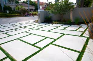 large concrete pavers driveway with grass google search