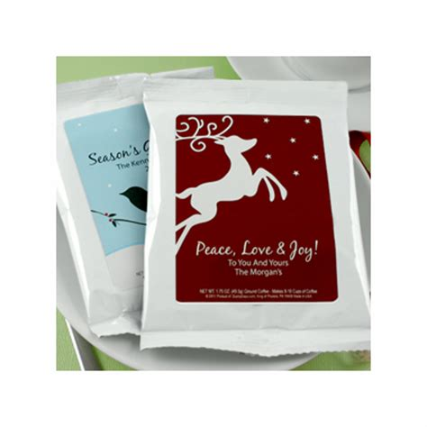 Corporate Party Giveaways - company holiday party favors custom coffee
