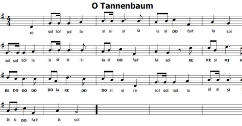 o albero testo musica e spartiti gratis per flauto dolce o tannembaum