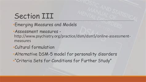 Dsm 5 Section 1 by Dsm 5