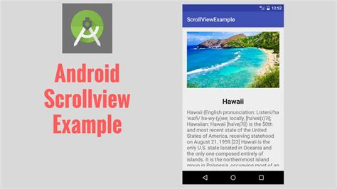 android scrollview exle pcs android scrollview exle youtube