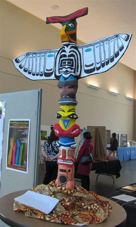 totem pole craft project only best 25 ideas about totem pole craft on