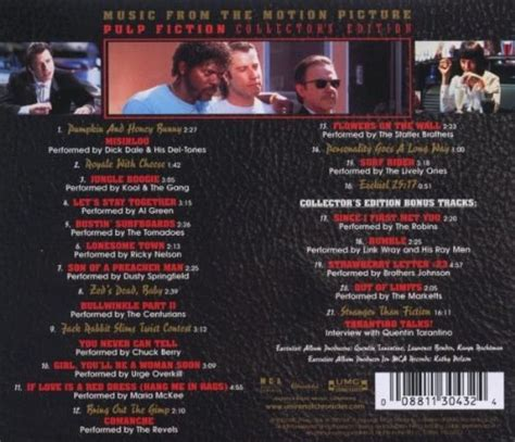 s day soundtrack list soundtrack pulp fiction from the motion picture
