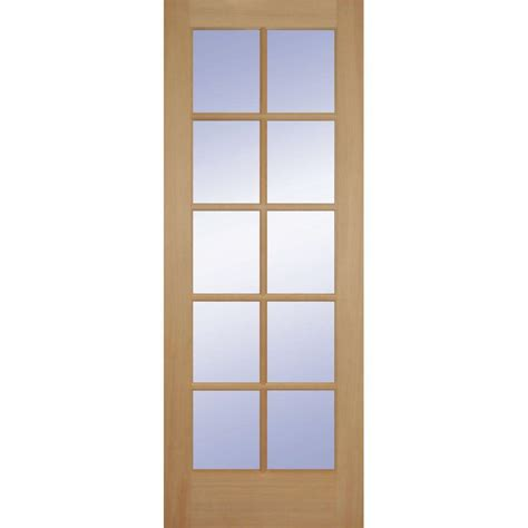 doors home depot interior builder s choice 24 in x 80 in hemlock 10 lite interior door slab hd1510s20 the home depot