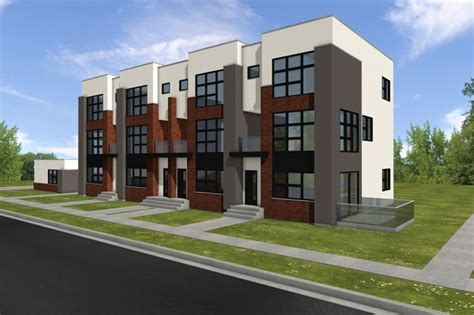 Contemporary Townhouse Plans by Modern Townhouses Modern Townhouse Models