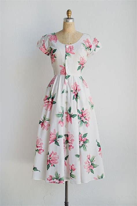 80s floral floral 80s dress