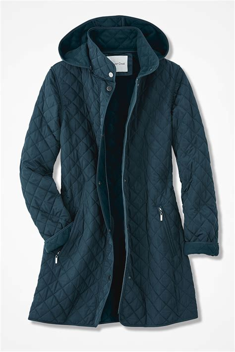 Quilted Car Coat by Hooded Quilted Car Coat Coldwater Creek
