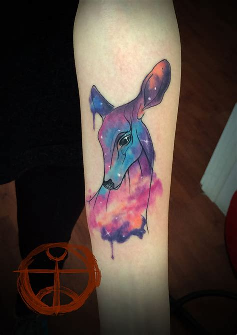 deer watercolor tattoo deer images designs