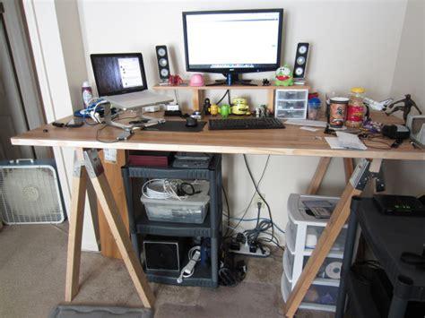 sawhorse standing desk 5 affordable diy standing desks