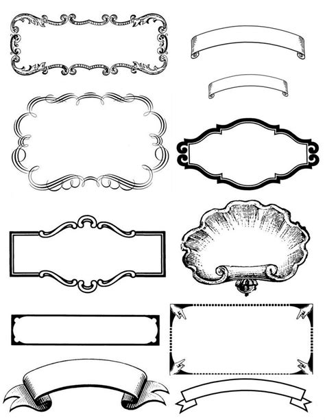 free printable vintage label templates 132 best images about clipart design elements for label