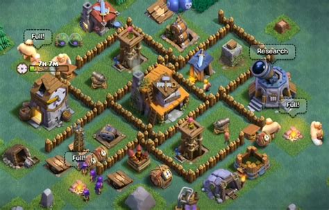 layout coc lvl 4 best level 4 builder hall base design cocbases
