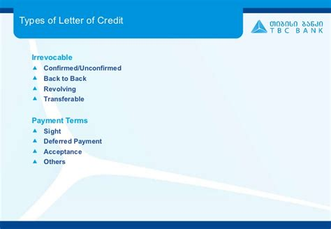 Transferable Letter Of Credit At Sight Tbc Letter Of Credit