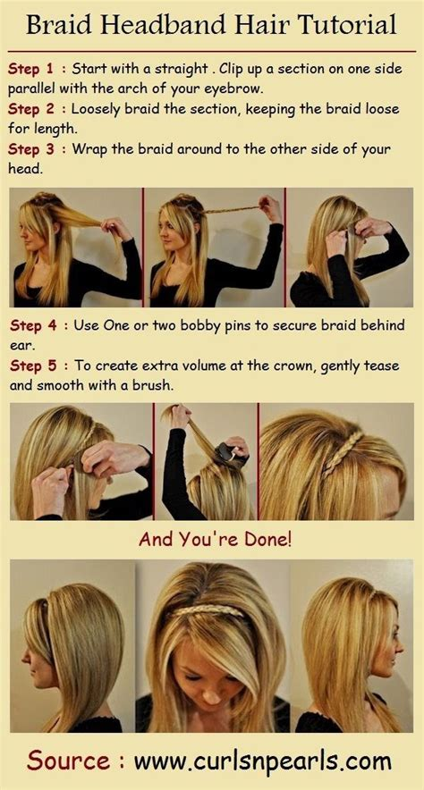 how to do a headband braid step by step step by step hairstyles for long hair long hairstyles