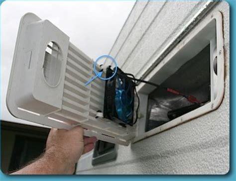 rv refrigerator exhaust fan fridge ventilation upgrade cing