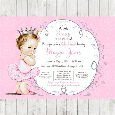 Baby Shower Free by Template Printable Princess Baby Shower Invitations Free