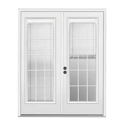 Patio Doors Lowes Shop Reliabilt 71 5 In Blinds Between The Glass Steel