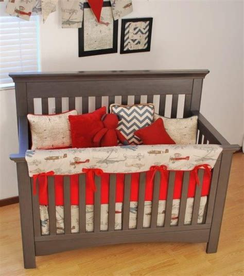 Airplane Baby Crib Bedding 172 Best Images About Transportation Theme Nursery On Grey Crib Vintage Airplane
