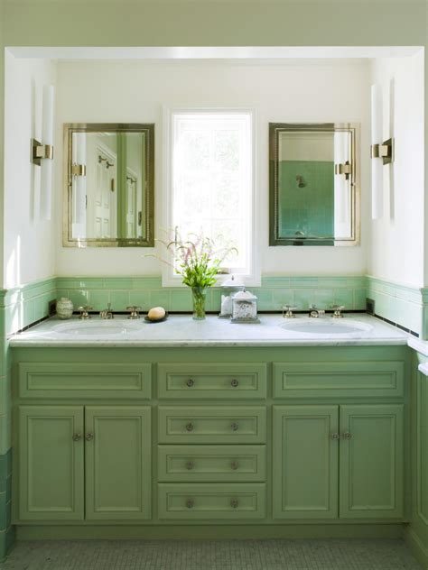 green vanity bathroom green bathroom photos hgtv
