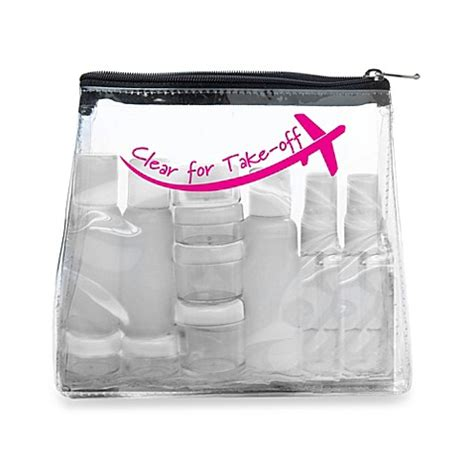 Cleared For Take Product by Miamica 174 Clear For Take Clear Security Bag Kit Bed