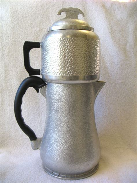Classic Coffee Drip vintage guardian service hammered aluminum coffee maker