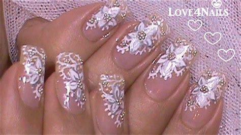 imagenes de uñas acrilicas para novias decoracion de u 241 as para novia tutorial youtube