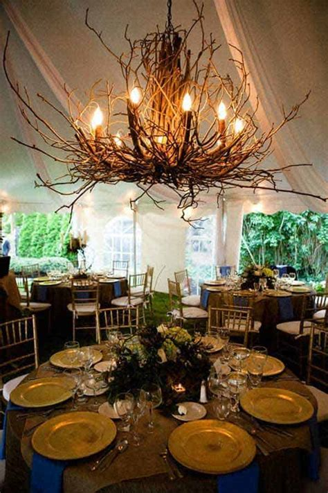 sculptural diy tree branch chandeliers  realize