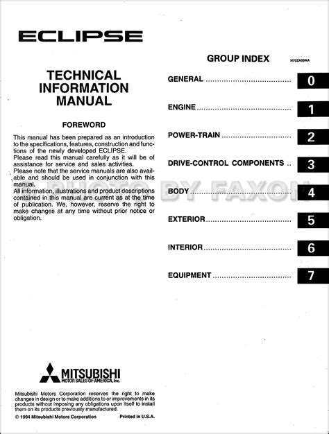 how to download repair manuals 1993 mitsubishi eclipse interior lighting service manual manual repair engine for a 1995 mitsubishi eclipse service manual pdf 2003