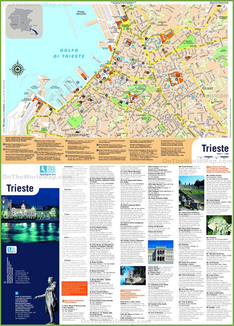 triest map trieste sightseeing map
