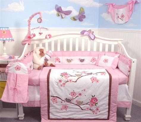 cherry blossom crib bedding cherries baby girl themes and nursery bedding on pinterest