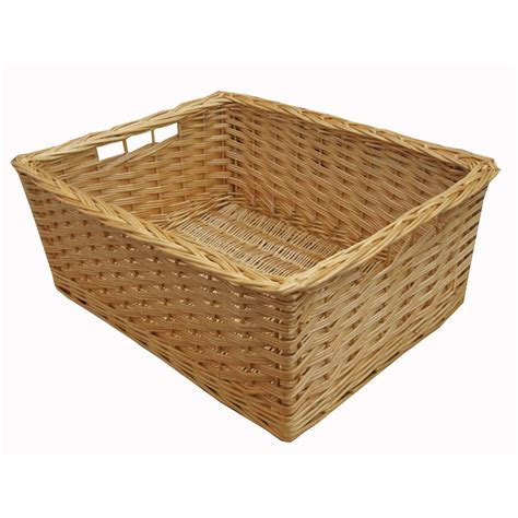 bathroom storage wicker baskets buy wicker storage basket kitchen drawer style from the basket company