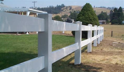 four rail vinyl fence 3 three rail white vinyl fence