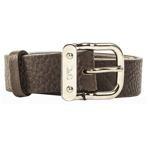 authentic dolce gabbana soft leather belt brown at