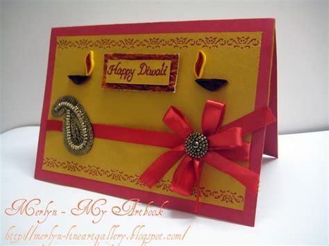 diwali cards to make my artbook diwali card