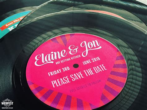 Vinyl Record Wedding Invites Save The Dates Wedfest Vinyl Record Invitation Template