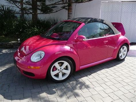 volkswagen new beetle pink pink vw beetle convertible girly cars for female drivers