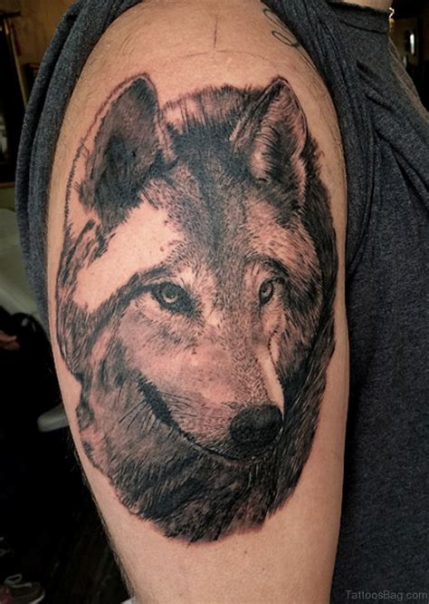 wolf head tattoos designs 51 wolf tattoos on shoulder