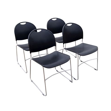 Stacking Chair by 4 Haworth Comforto System 12 Stacking Chairs Ebay