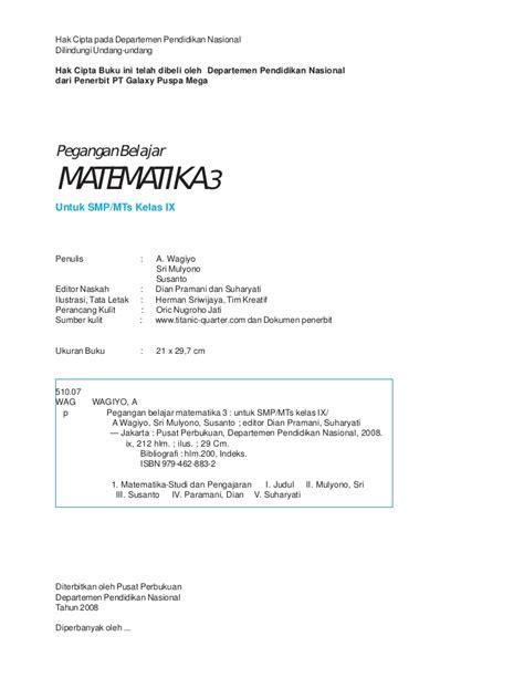 Matematika Smp Jl 2a Ktsp matematika smp kelas 9