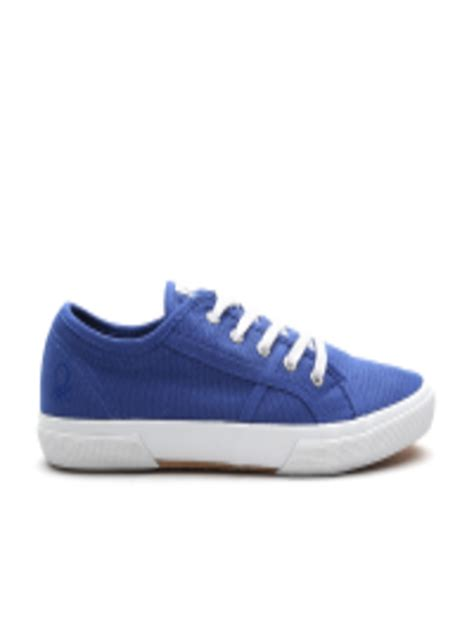 benetton shoes buy united colors of benetton blue solid sneakers