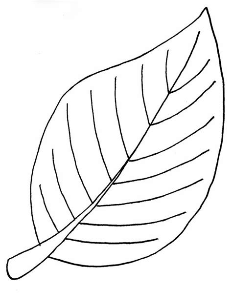 Giant Leaf Coloring Page | 春天树叶的简笔画