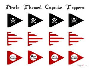 free pirate cupcake printable toppers frugalful